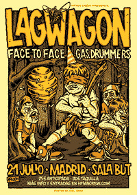 Lagwagon, Face to Face and GAS Drummers